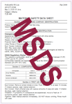 Parasolve Material Safety Data Sheets